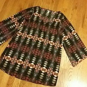 Cool print mini dress/tunic